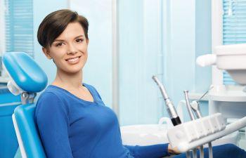 woman in a dental office
